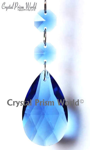 Blue Double Teardrop - Crystal Prism World