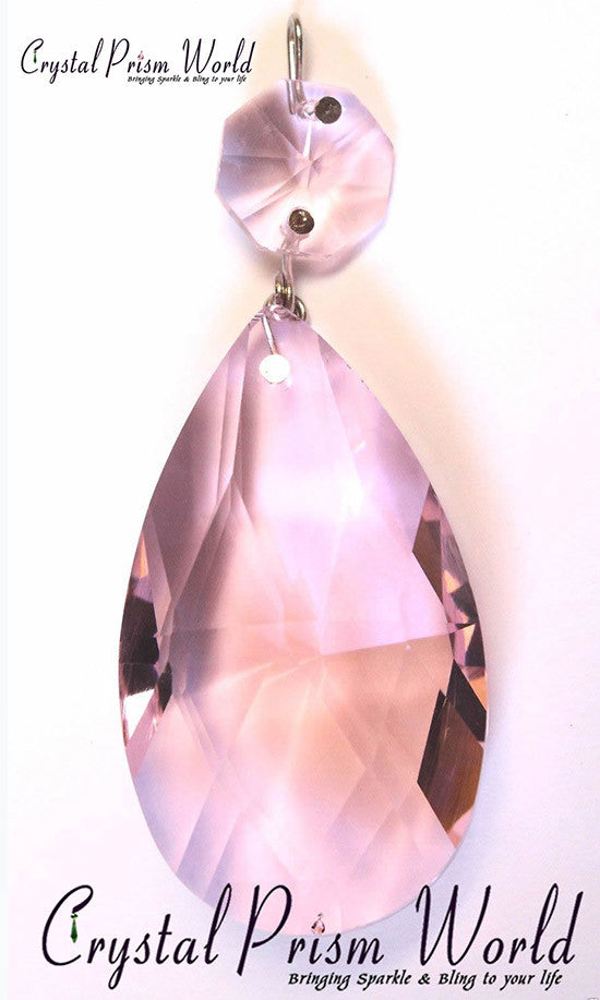 Pink Chandelier Teardrop Prism Crystal Prism World - Chandelier crystals pink