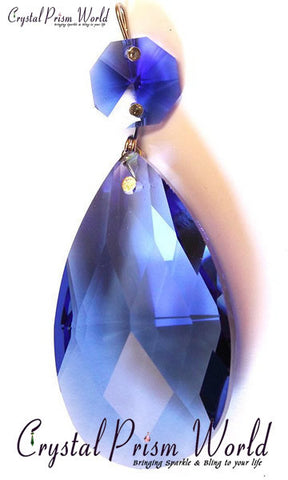 Sapphire Blue Teardrop  | Item #0056 (Out of Stock) - Crystal Prism World