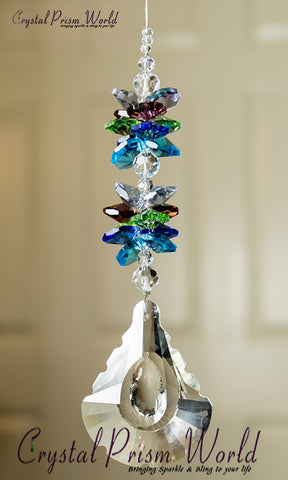 Window Crystals - Peacock Suncatcher | Item #X61QP