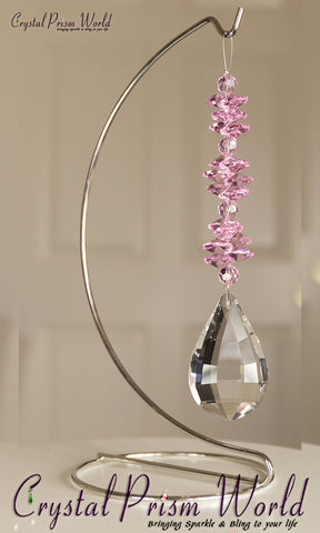 Window Crystals - Pink Valentine Sun Catcher | Item #F61QP