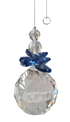 Window Crystals - Sapphire Ornament (Item #S5569)