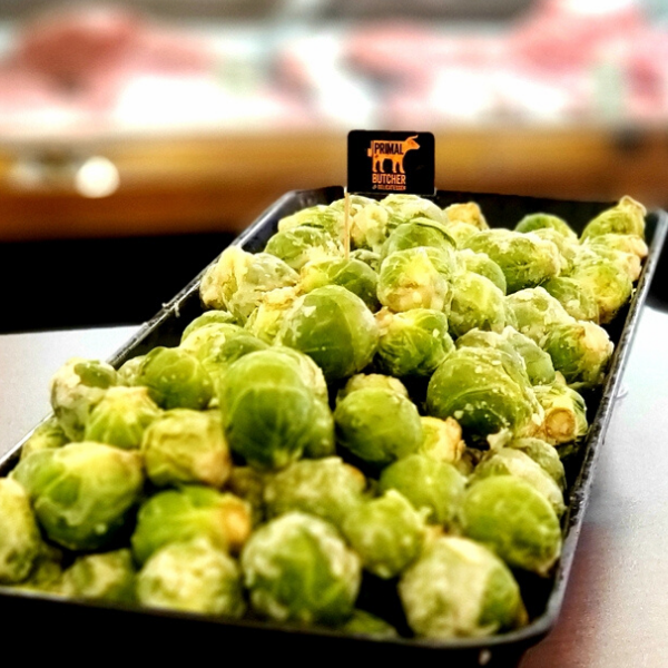 Primal Brown Buttered Brussels sprouts