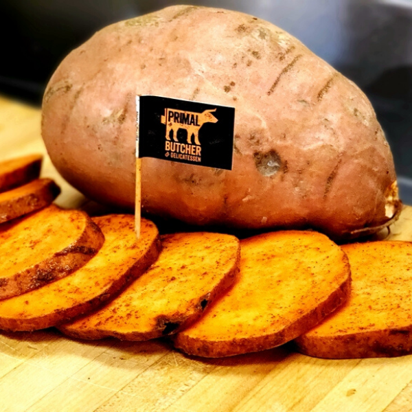 Primal Maple Bourbon Sweet Potatoes