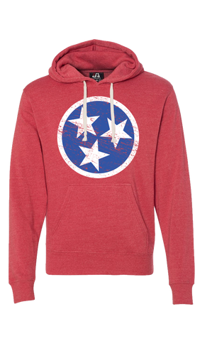 Red Tennessee Tri Star Sweatshirt