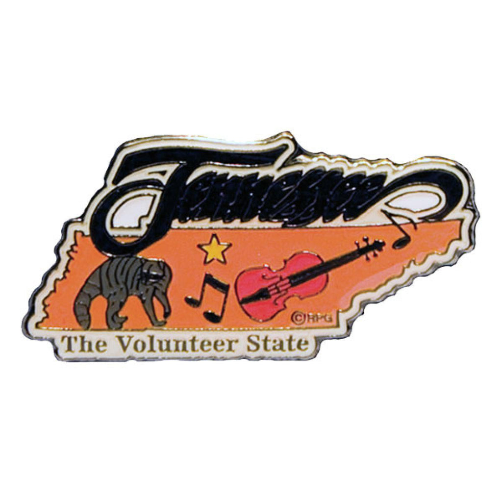 Tennessee Pin - State with Fiddle  pin - Nothing Too Fancy