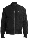 Black Bomber Jacket  jacket - Nothing Too Fancy