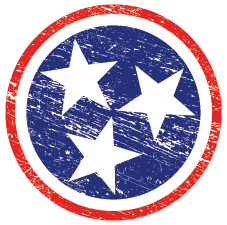 TN Flag Decal  Decal - Nothing Too Fancy