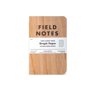 Cherry Graph Notepad 3-Pack