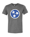 TN Flag - Blue on Gray  T-Shirt - Nothing Too Fancy