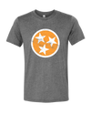 TN Flag - Orange on Gray  T-Shirt - Nothing Too Fancy