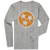 Long Sleeve Orange Tri-Star on Light Grey