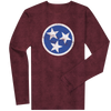 Long Sleeve Vino Red Tri-Star  Long Sleeve T-Shirt - Nothing Too Fancy