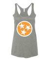 Ladies Orange Tri-Star Racerback Tank - SALE!  Tank Top - Nothing Too Fancy