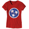Ladies Red TN Flag  T-Shirt - Nothing Too Fancy