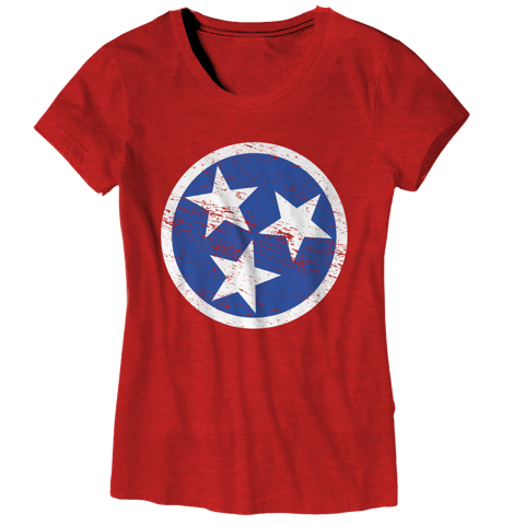 Ladies TN Flag - Red  T-Shirt - Nothing Too Fancy