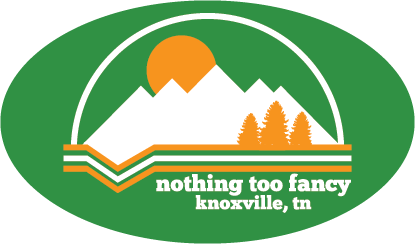 Nothing Too Fancy Mountains Magnet  Magnet - Nothing Too Fancy