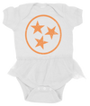 Orange & White Tutu Onesie  Onesie - Nothing Too Fancy