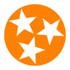 Orange Tri-Star Decal  Decal - Nothing Too Fancy