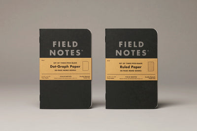 Pitch Black Memo Book 3-Pack  notepad - Nothing Too Fancy