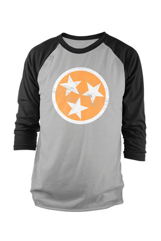 Orange Tri-Star Raglan