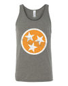 Tri-Star Tank - Gray/Orange - SALE!  Tank Top - Nothing Too Fancy