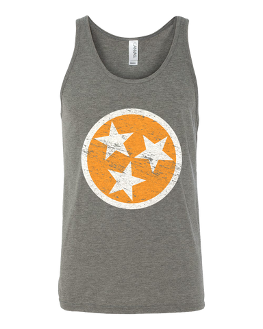 Tri-Star Tank - Gray/Orange - SALE!