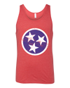 Tri-Star Tank - Red/Blue  Tank Top - Nothing Too Fancy