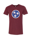 TN Flag - Blue on Vino  T-Shirt - Nothing Too Fancy