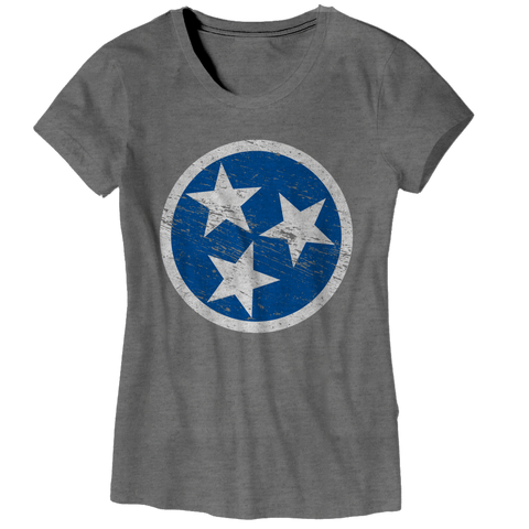 Ladies TN Flag - Blue on Gray