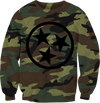 Camo/Black TN Flag Crew Neck Sweatshirt  Crew Neck Sweatshirt - Nothing Too Fancy