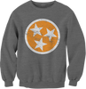 Gray TN Flag Crew Neck Sweatshirt - SALE!  Crew Neck Sweatshirt - Nothing Too Fancy