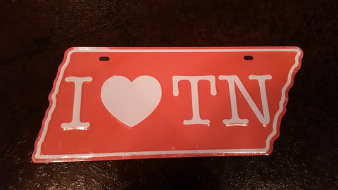 I Heart TN License Plate