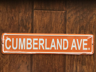 Cumberland Avenue Street Sign  Accessories - Nothing Too Fancy