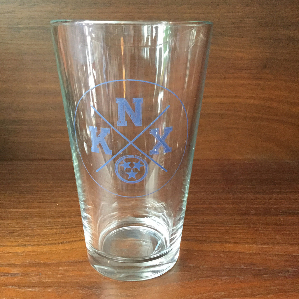 Knx Stars Pint Glass  glassware - Nothing Too Fancy