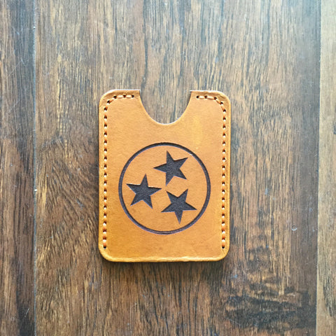 Tri-Star Leather Wallet