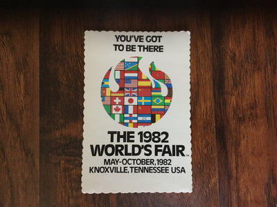 1982 World's Fair Vintage Postcards  Post Card - Nothing Too Fancy