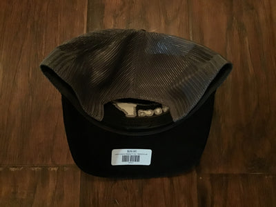 Local Corduroy Relaxed Fit Hat - Black/Grey with Grey Stitching