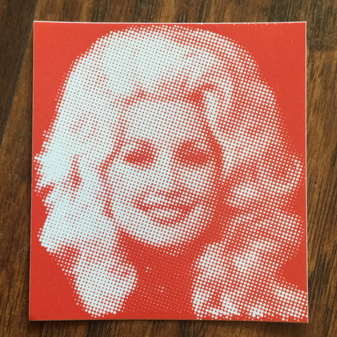 Dolly Parton Red Sticker