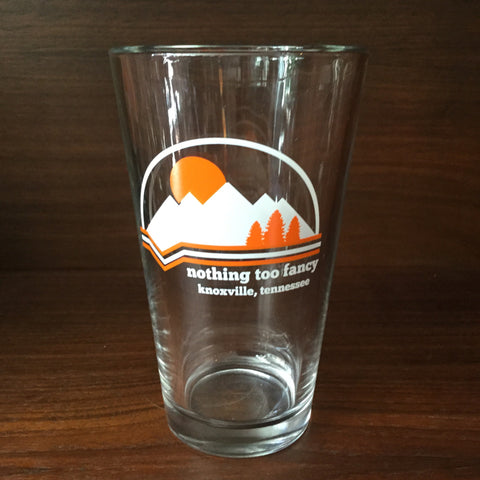 NTF Mountains Pint Glass