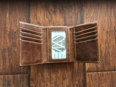 Power T Leather Trifold Wallet  wallet - Nothing Too Fancy