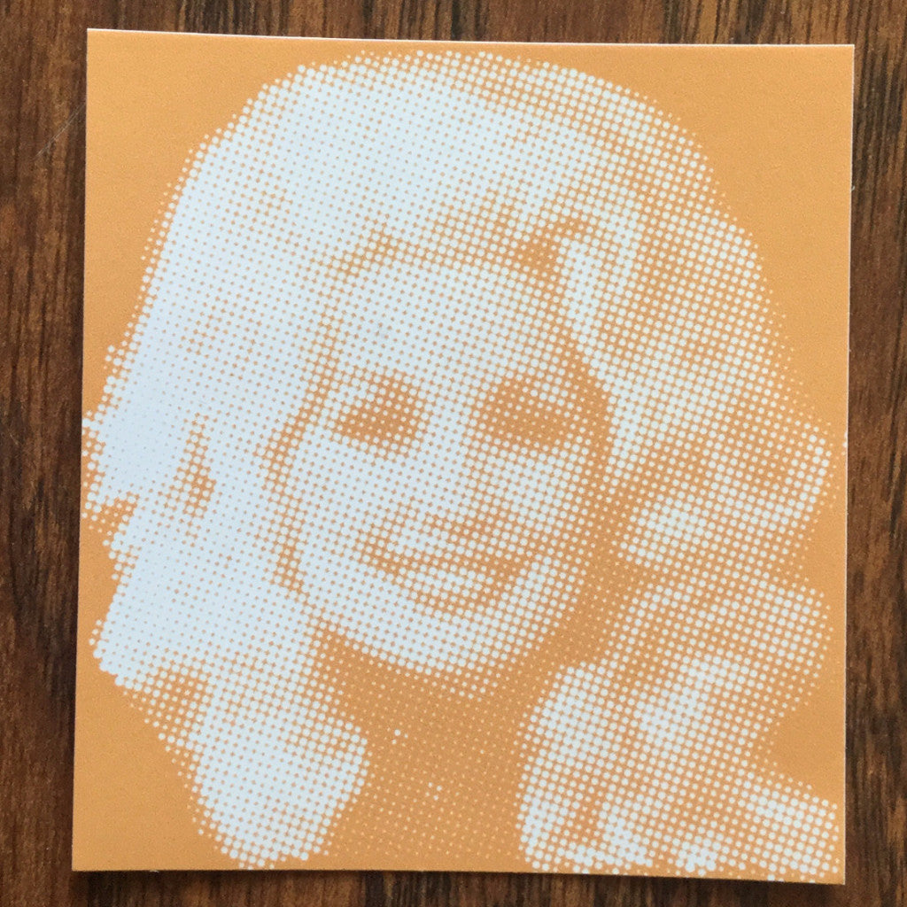 Dolly Parton Orange Sticker  Decal - Nothing Too Fancy
