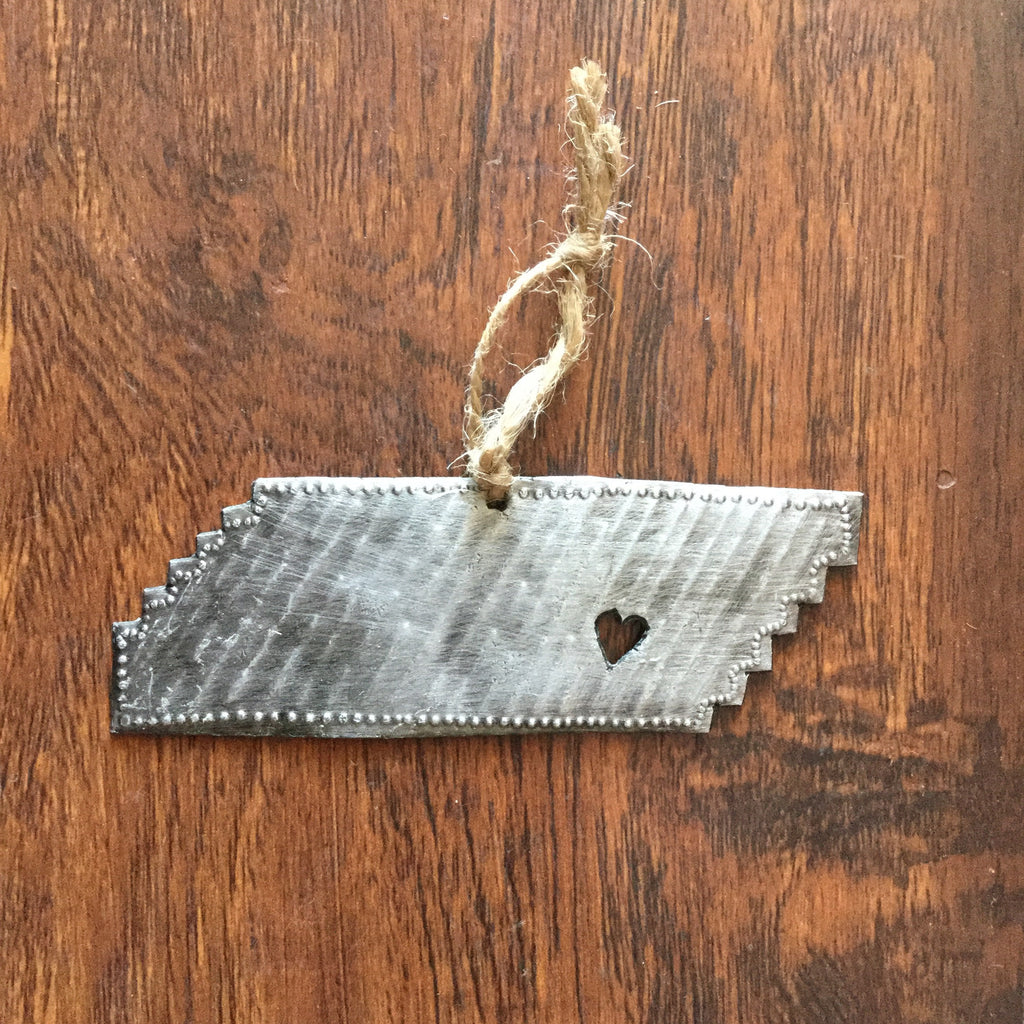 Metal State Ornament - Handmade In Haiti