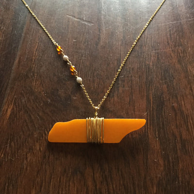 Orange Glass TN Necklace  jewelry - Nothing Too Fancy