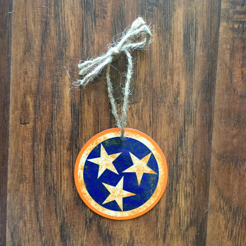 Aluminum Tri-Star Ornament - Orange