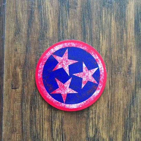 Aluminum Tri-Star Magnet - Red