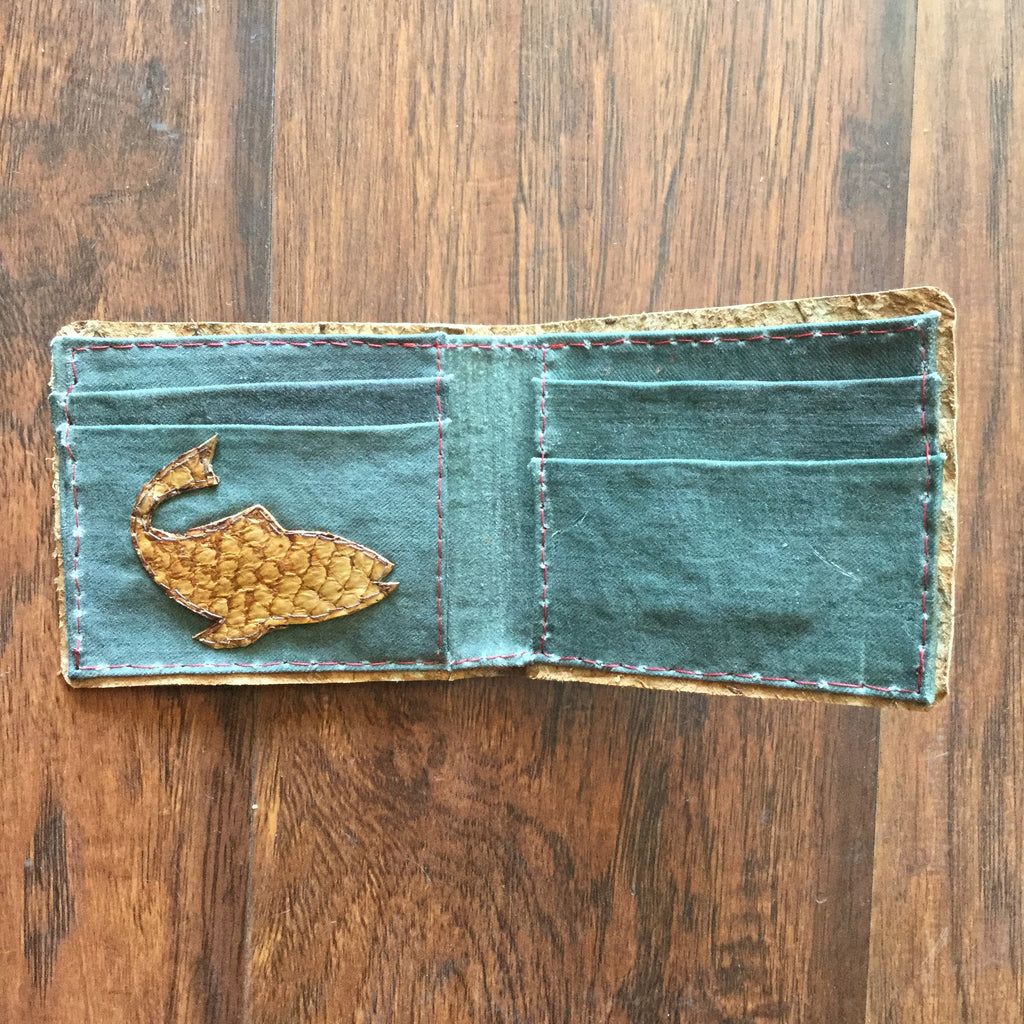 Fisherman Wallet - Fish Leather  wallet - Nothing Too Fancy