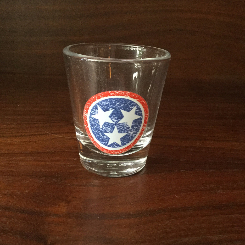 Tri-Star Shot Glass - RWB  glassware - Nothing Too Fancy