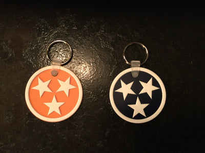 Rubber Tri-Star Keychain  Keychain - Nothing Too Fancy