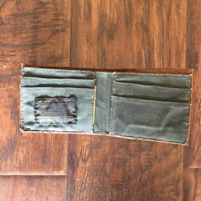 Classic Bi-Fold Wallet - Baseball Glove (Brown)  wallet - Nothing Too Fancy